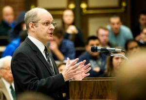 Jonah Orlofsky argues before the Utah Supreme Court. Photo courtesy of Daily Herald